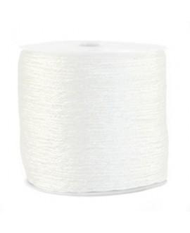 Hilo macramé metálico 0.5mm, precio por carrete, blanco