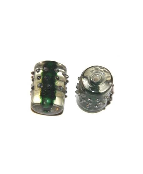 Tubo puntitos  verde 20x15mm, paso 1mm