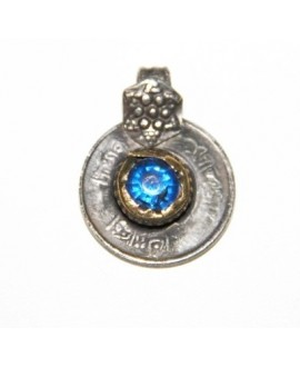 Moneda cristal azul tribu kuchi 22mm