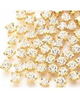 Diamante de imitación para coser  3x2.5mm( ss12 ), cristal, precio por 1.440 unidades