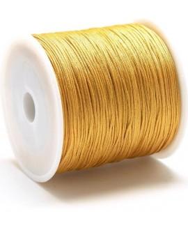 Hilo macramé (nylon) 0,8mm color mostaza, precio por carrete de 100 metros