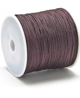 Hilo macramé (nylon) 0,8mm color marrón coco, precio por carrete de 100 metros