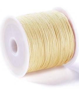 Hilo macramé (nylon) 0,8mm color crema, precio por carrete de 45 metros