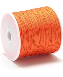 Hilo macramé (nylon) 0,8mm color naranja oscuro, precio por carrete de 100 metros
