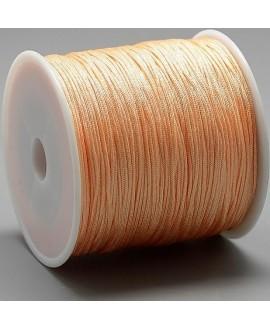 Hilo macramé (nylon) 0,8mm color melocotón, precio por carrete de 100 metros