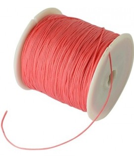 Hilo macramé (nylon) 0,8mm color tomate, precio por carrete de 100 metros