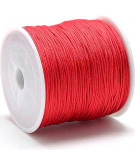 Hilo macramé (nylon) 0,8mm color rojo, precio por carrete de 100 metros