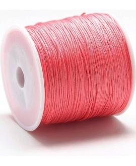 Hilo macramé (nylon) 0,8mm coral, precio por carrete de 100 metros