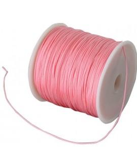 Hilo macramé (nylon) 0,8mm rosa coral, precio por carrete de 100 metros
