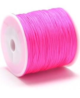 Hilo macramé (nylon) 0,8mm rosa fluor, precio por carrete de 100 metros