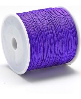 Hilo macramé (nylon) 0,8mm malva, precio por carrete de 100 metros