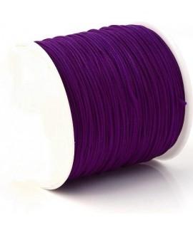 Hilo macramé (nylon) 0,8mm púrpura oscuro, precio por carrete de 100 metros