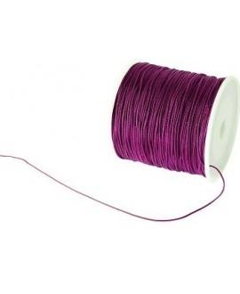 Hilo macramé (nylon) 0,8mm púrpura, precio por carrete de 100 metros