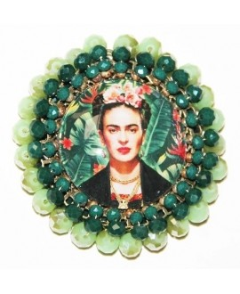 Medalla bordada a mano FRIDA KAHLO 70mm