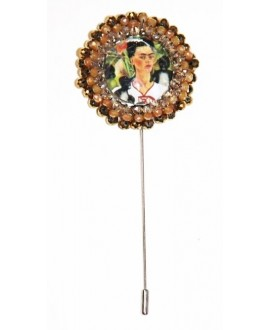Broche bordado a mano FRIDA KAHLO 40mm
