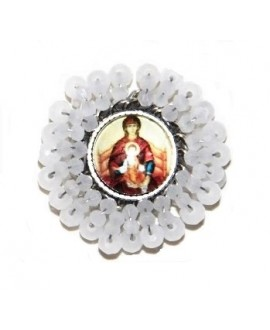 Medalla religiosa bordada a mano 35mm