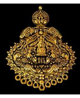 Colgante Tribal Temple (Lakshmi) 58x56mm paso 4mm, plata alemana, precio por unidad