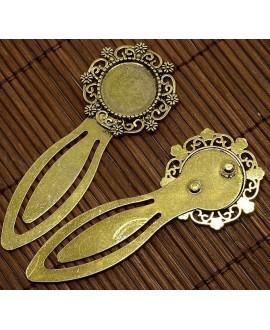Base cabujón dorado, marcapagina, base 18mm