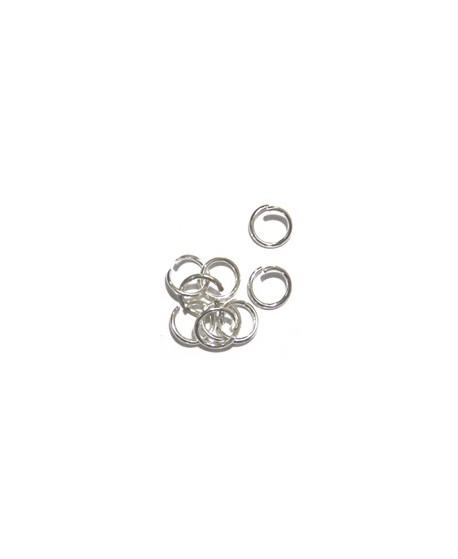 Anilla 1x10mm color plata precio por 100 unidades