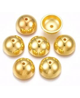 Capuchon CCB dorado 14x7mm paso 2,5mm, precio por 10 unidades
