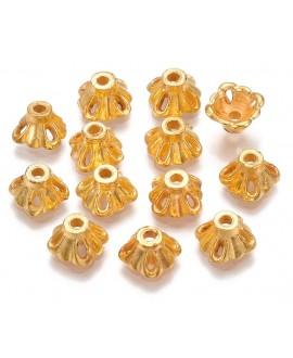 Capuchon CCB dorado 7,5x7,5x4,5mm paso 1,5mm, precio por 20 unidades