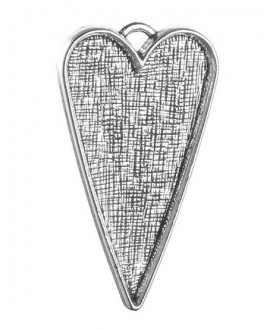 Colgante corazón 53x30x4mm, bandeja 48x27mm, paso 3x4mm