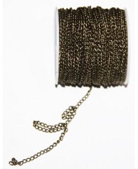 Cadena bronce eslabón pequeñode 3x2mm, precio por metro