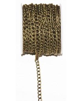 Cadena bronce eslabón de 5x3mm, precio por metro
