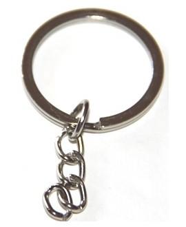 Anilla llavero  metal con cadena 28mm