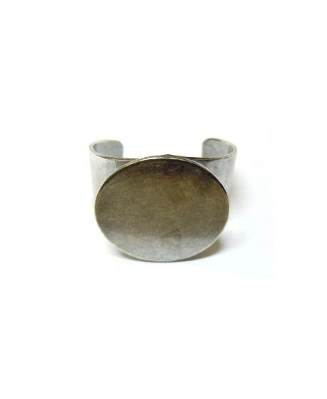 Base anillo 22mm para cabujon de 20mm