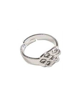Base anillo metal con 7 anillas, ajustable