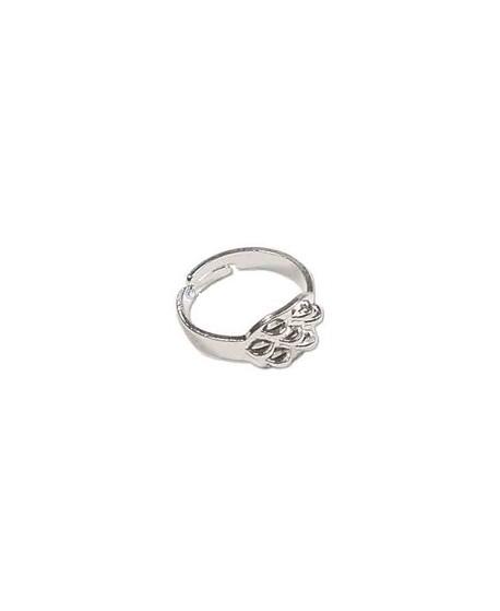 Base anillo metal con 7 anillas, ajustable