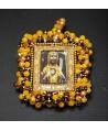 Medalla bordada virgen Montserrat 55x50mm, paso 3mm