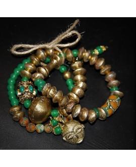Pulsera África, elástica (tres pulseras)