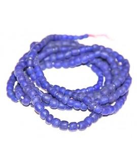 Mini azul Ghana, precio por ristra, 5mm, paso 2mm.