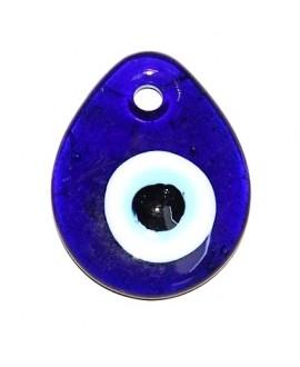 Colgante ojo turco de cristal griego 50x40mm, paso 4mm