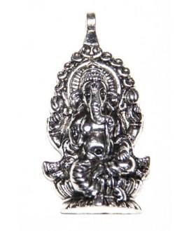 Colgante amuleto tibetano de metal 55x30mm, paso 3mm