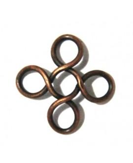Capuchón 12,5x1mm agujero 4mm cobre, precio por 10 unidades