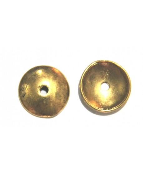 Capuchón 13x1mm paso 2mm dorado precio por 10 unidades