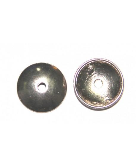 Capuchón 13x1mm paso 2mm plata antigua precio por 10 unidades