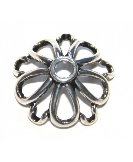 Capuchón  flor metal 25mm, paso 3mm