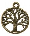 Colgante árbol de la vida, 20mm, bronce