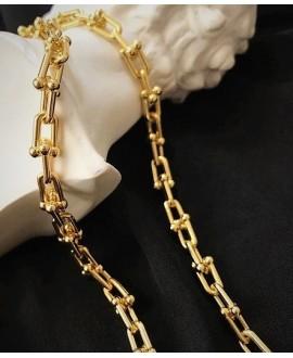 Cadena de acero inoxidable dorado 15x8x4mm , precio por metro
