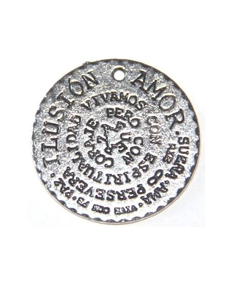 Colgante medalla ilusión-amor 32mm, metal