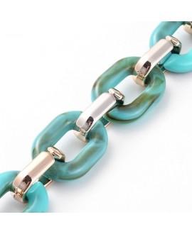 Cadena de resina enlace: 23,5x17,5x4,5mm y 18,5x11,5x4,5mm, precio por metro