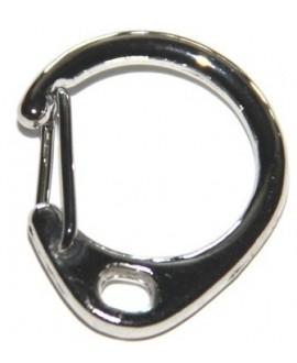 Anilla llavero metal, 32x18x7mm, paso 6x4mm