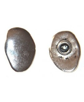 Cierre botón plata, paso 4mm