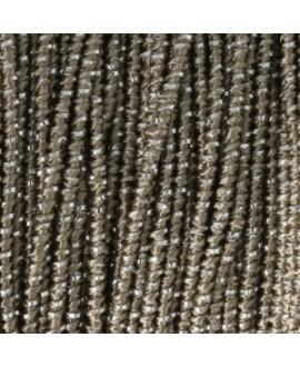 Cordón Bliss Elástico de fabricación italiana 1mm Marrón/Plateado, venta por metro