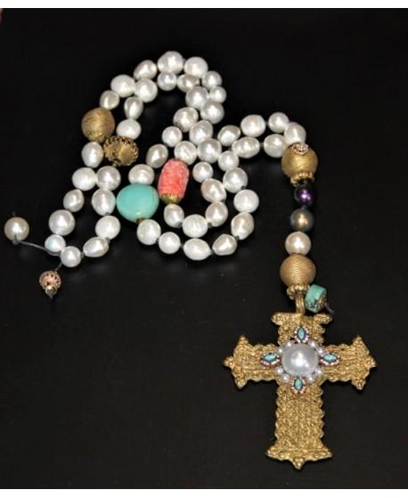Rosario/collar perlas