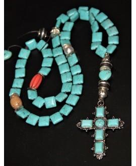 Rosario/collar turquesa